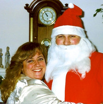 Russ as Santa with Pamie