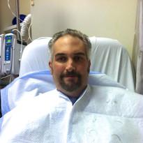 Hospital Russ after a haircut