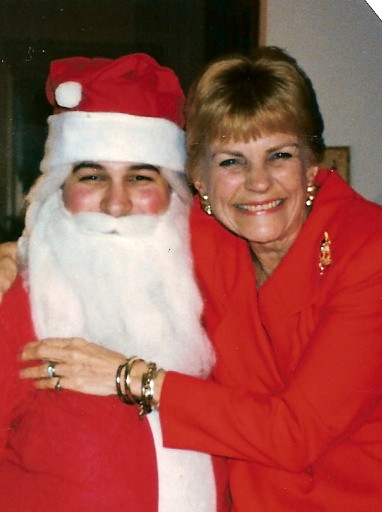 Russ as Santa with Joyce (Mom) 1994