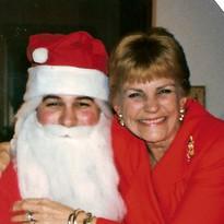 Russ as Santa with Joyce (Mom) 1994