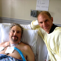 Russ with Doug after Total Artificial Heart