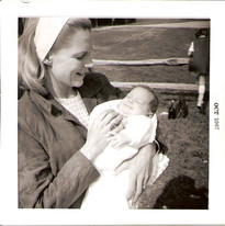 Mom with Russ 1967
