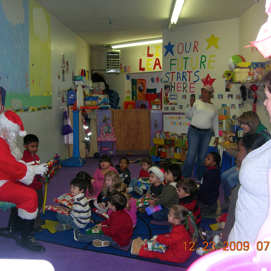 Russ playing Santa at Cyds preschool