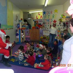 Russ playing Santa at Cyds preschool