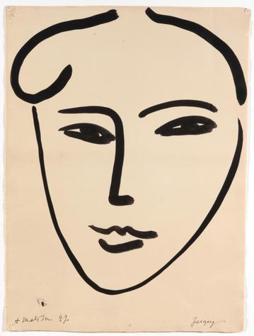 Henri Matisse, Jackie, 1947, Collection particulière © succession Henri Matisse, photo © DR