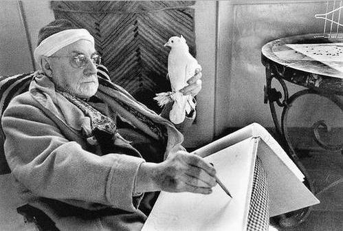 """Henri Matisse par Cartier Bresson, Vence, Villa """"Le rêve"""", 1944"""