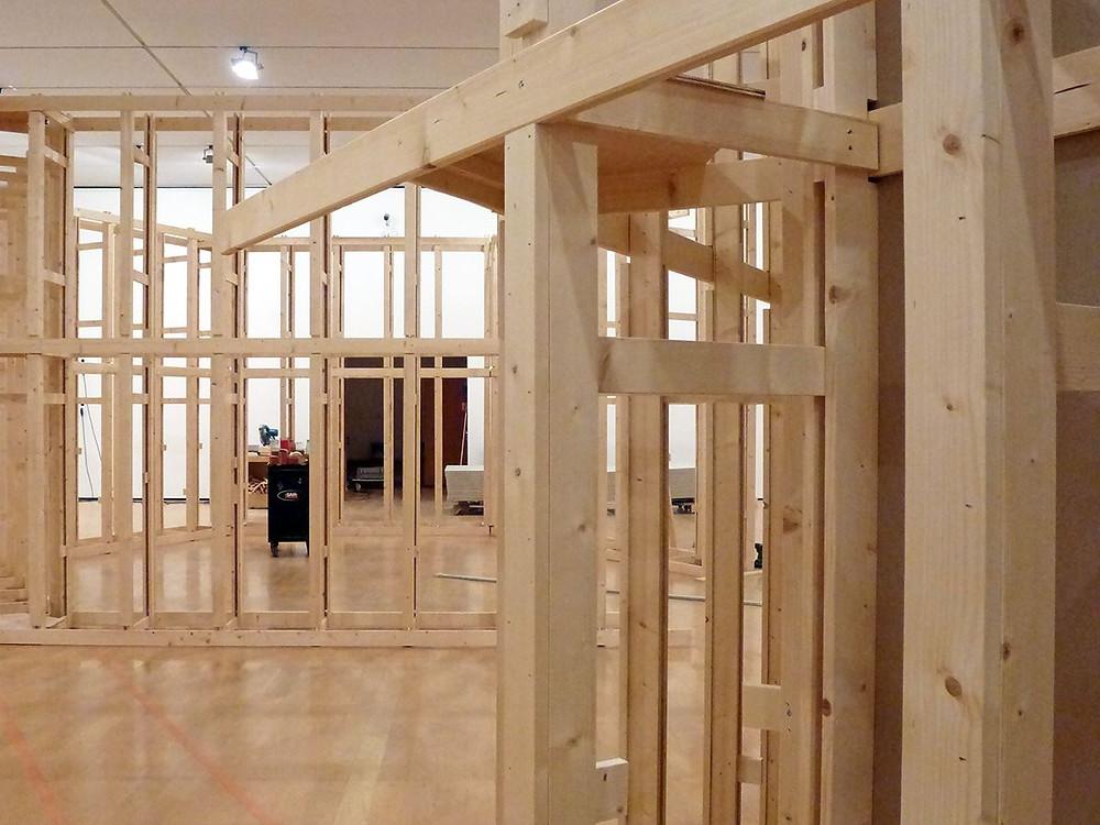 """Création de la scénographie de l'exposition """"Frigo"""", actuellement au musée d'art contemporain"""