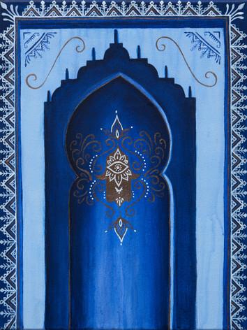 Door to the blue pearl
