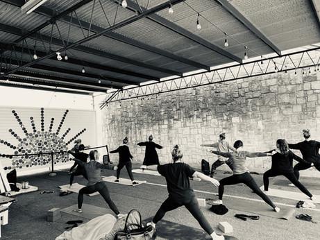Outdoor Sunshine Yoga Class