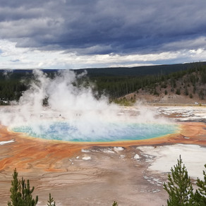 "Parc de Yellowstone (""pierre jaune"") - Wyoming"