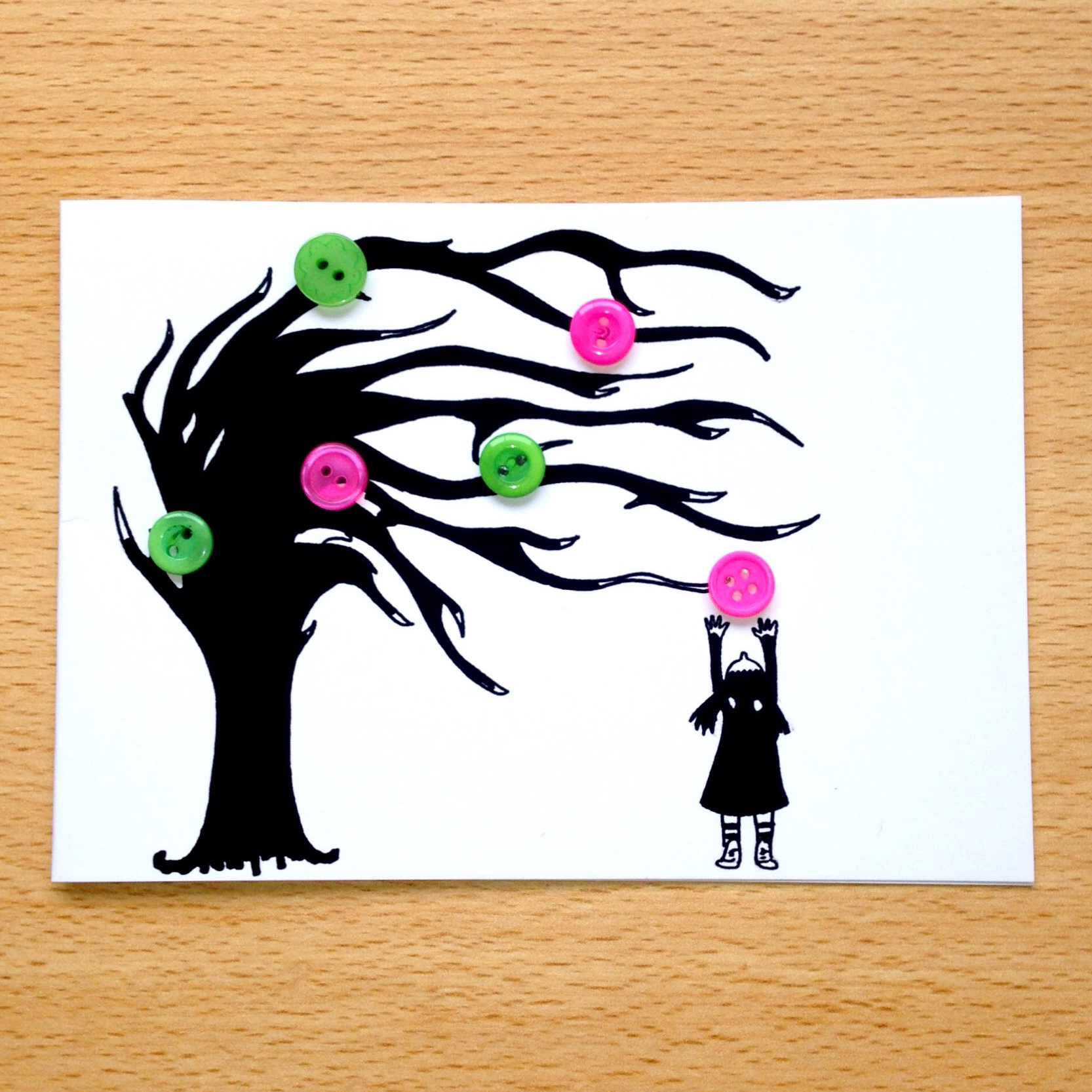 Button Tree Girl