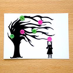 Button Tree Girl