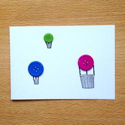 Button Hot Air Balloons