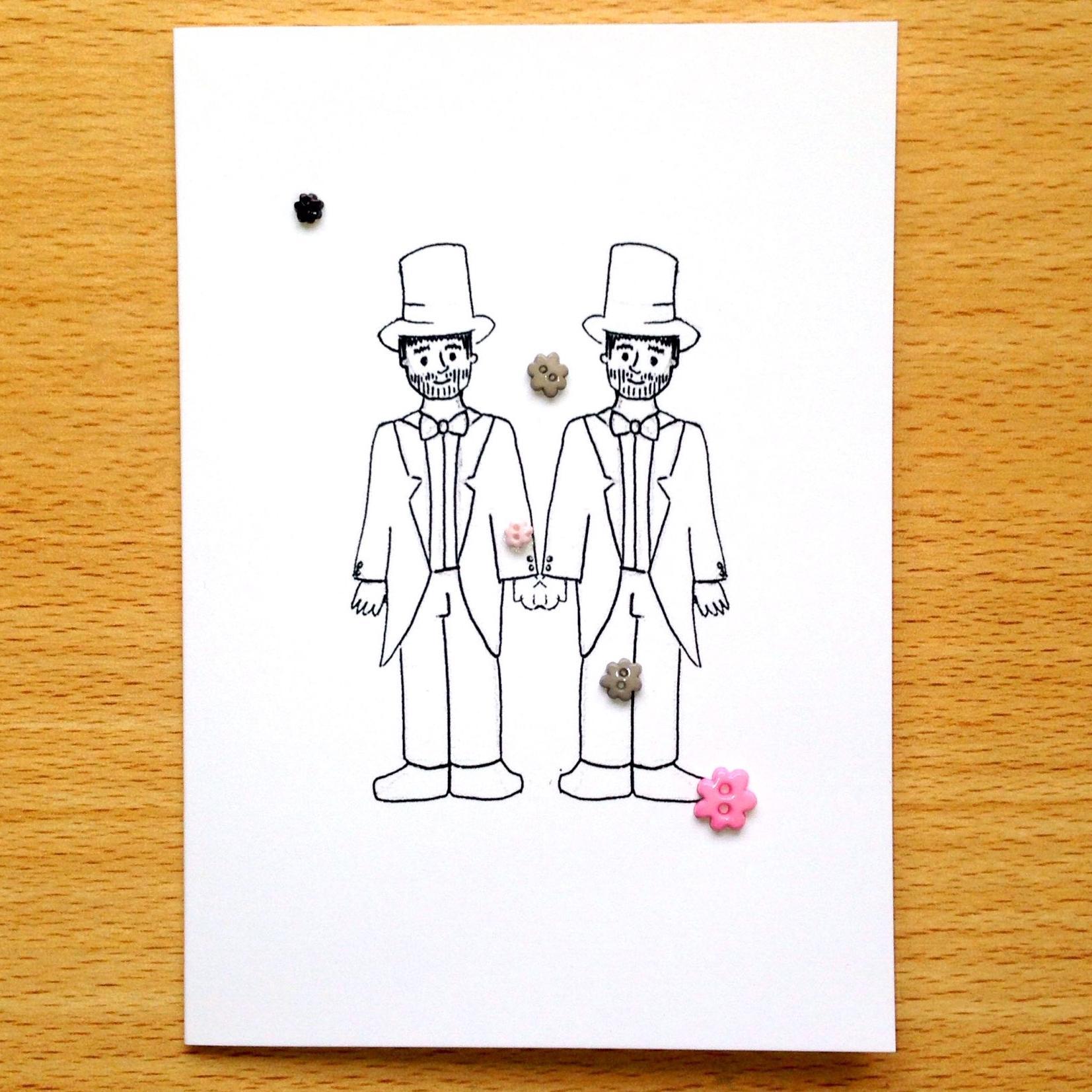 Confetti Button (Male/Male)
