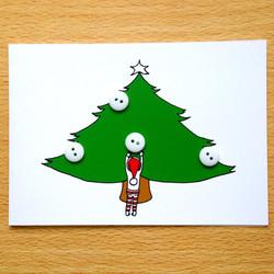 Button Bauble Tree Elf