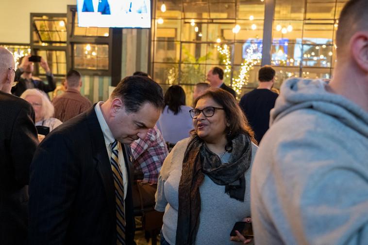With Senator Scutari