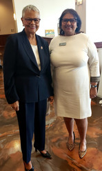 With Rep. Bonnie Watson Coleman