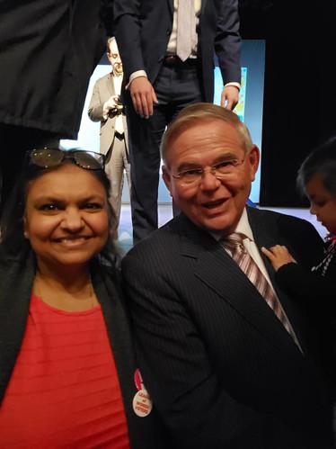 With Senator Menendez