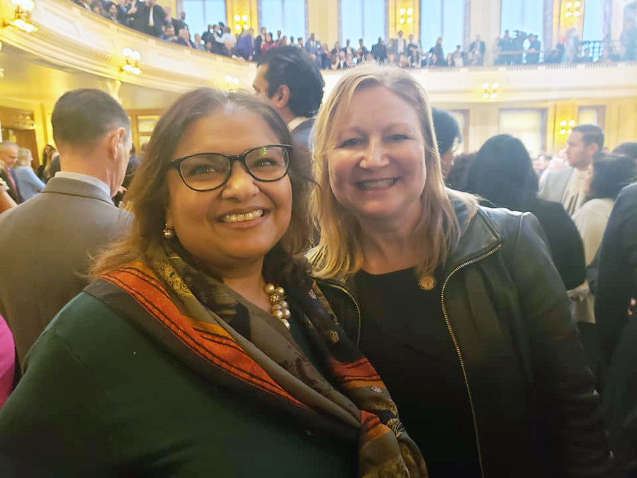 With Assembly Member Downey