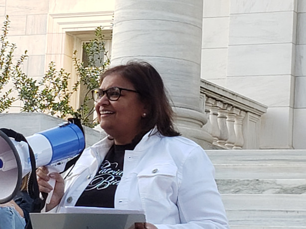 Speaking at the rally