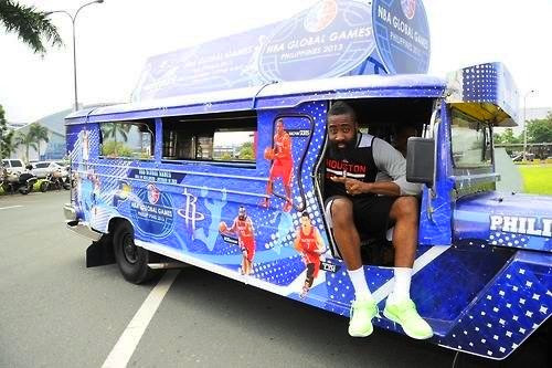 The Beard is so excited for the Filipino Heritage Night he's rollin in a jeepney!!