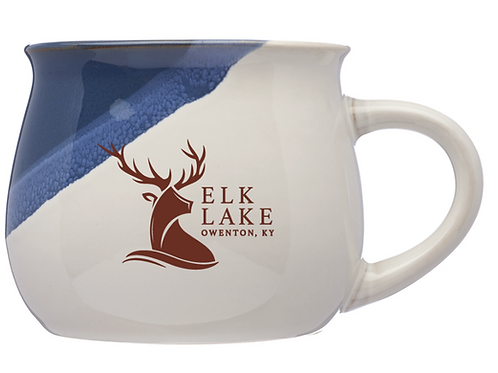Set of 6 - Nova Drip Glazed Ceramic Mugs 12oz - Elk Lake