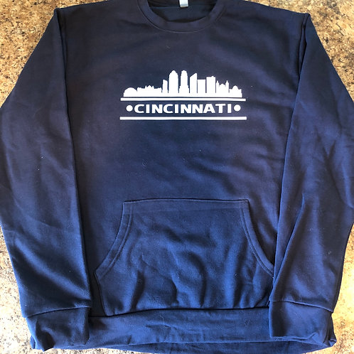 CINCINNATI Skyline Fleece Crew w/ Pocket