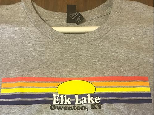 sunset t-shirt - Elk Lake