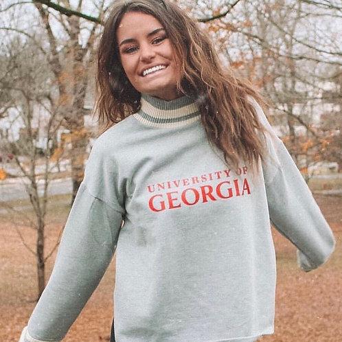 College Varsity Stripe Sweatshirt