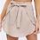 Thumbnail: Linen Wrap Mini Skirt