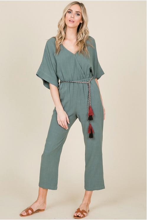 Linen Trouser Jumpsuit