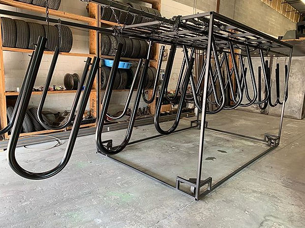 Bike Rack Hoops finished up ready for so