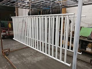 A set of railings blasted and powder coa