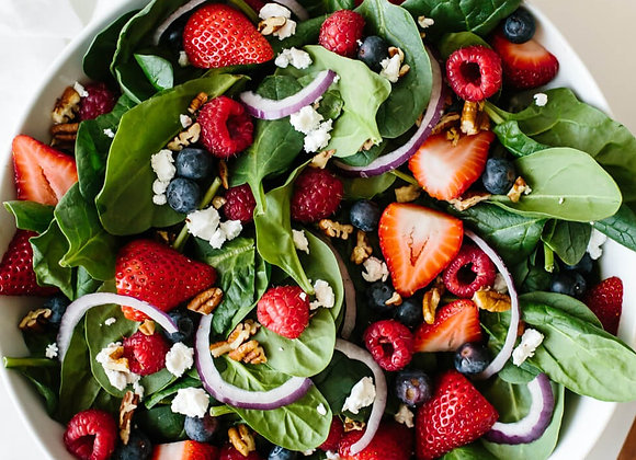 Berry Spinach Salad w/Stawberry Vinaigrette