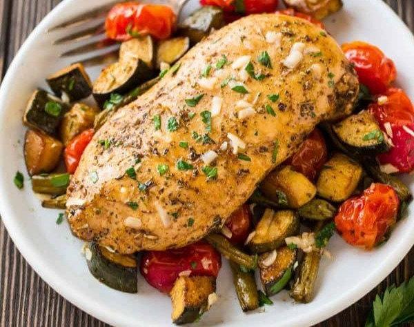 Garlic Roasted Chicken Dinner/KETO