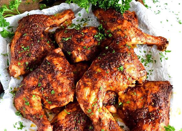 BBQ Chicken, Parmesan Roasted Corn, Baked Mac N Cheese, Cheddar Garlic Biscuit