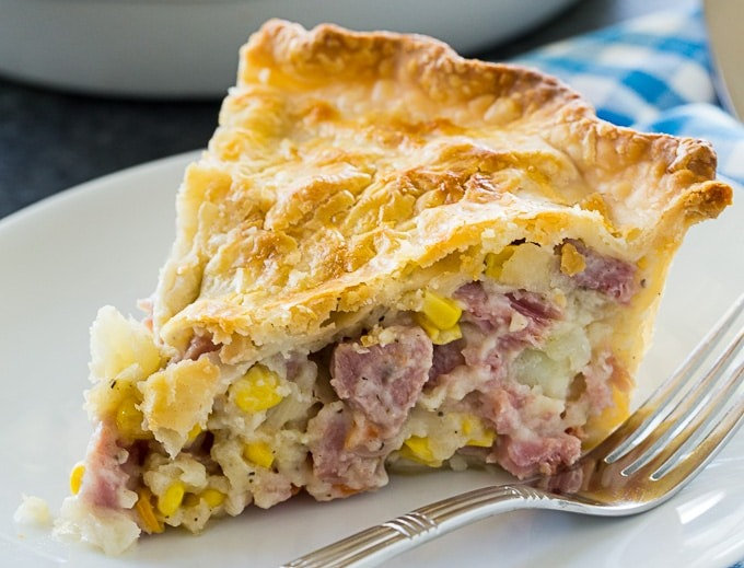 Ham & Potato Pie