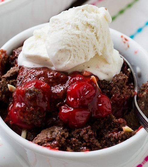 Chocolate Cherry Cobbler