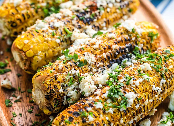 Parmesan Chive Roasted Corn