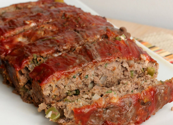Impossible Meat Vegan Meatloaf, Roasted Potatoes & Broccoli