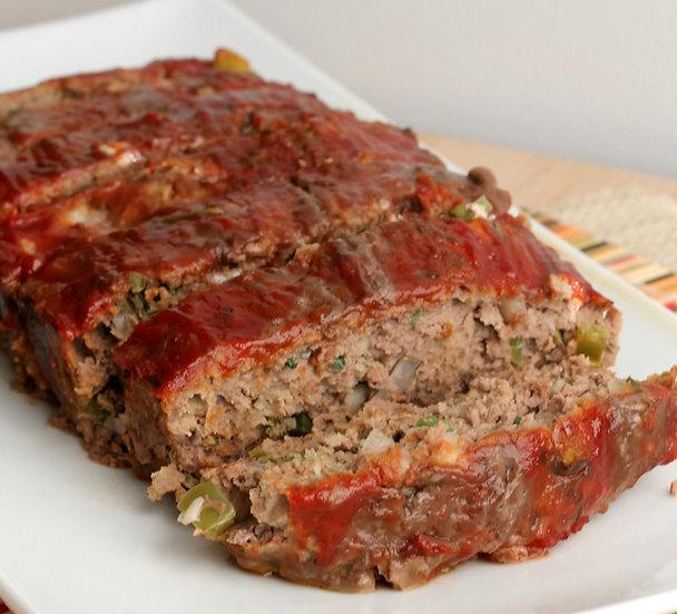 Keto Friendly Meatloaf w/Baked Cauliflower & Broccoli Casserole