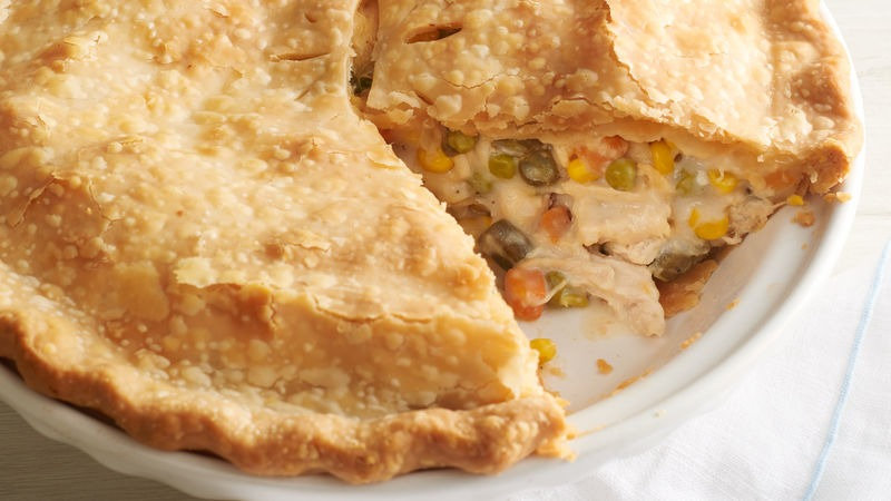 Classic Impossible Chicken Pie