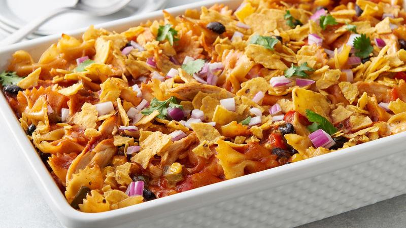 Southwest Chicken Pasta w/Fiesta Cornbread