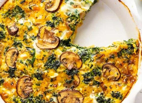 Spinach, Mushroom, Feta Quiche