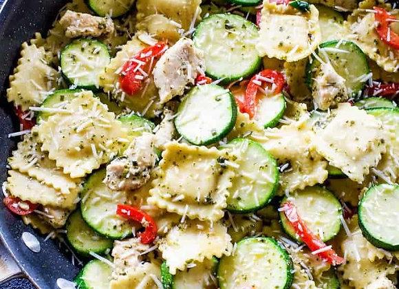 Pesto Chicken Ravioli
