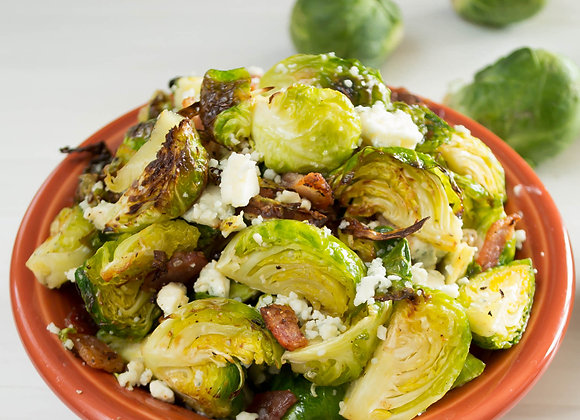 Bleu Cheese & Bacon Brussel Sprouts