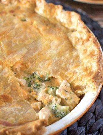 Impossible Chicken Cheddar Broccoli Pie