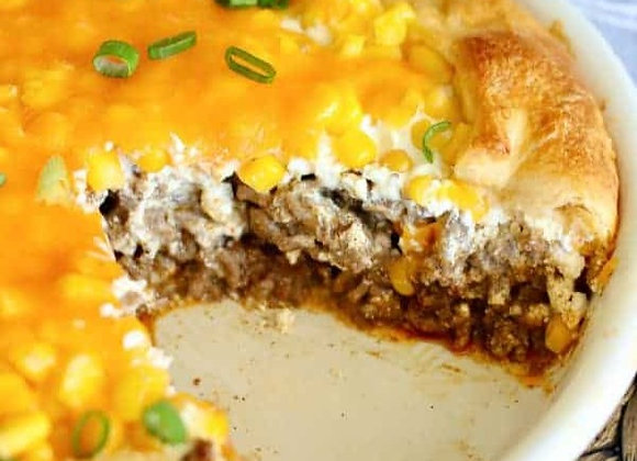Impossible Beef Taco Pie