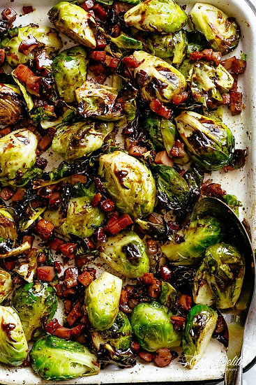 Bacon Roasted Brussels
