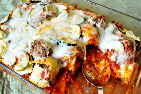 Cheesy Ravioli Meatball Lasagna w/Texas toast